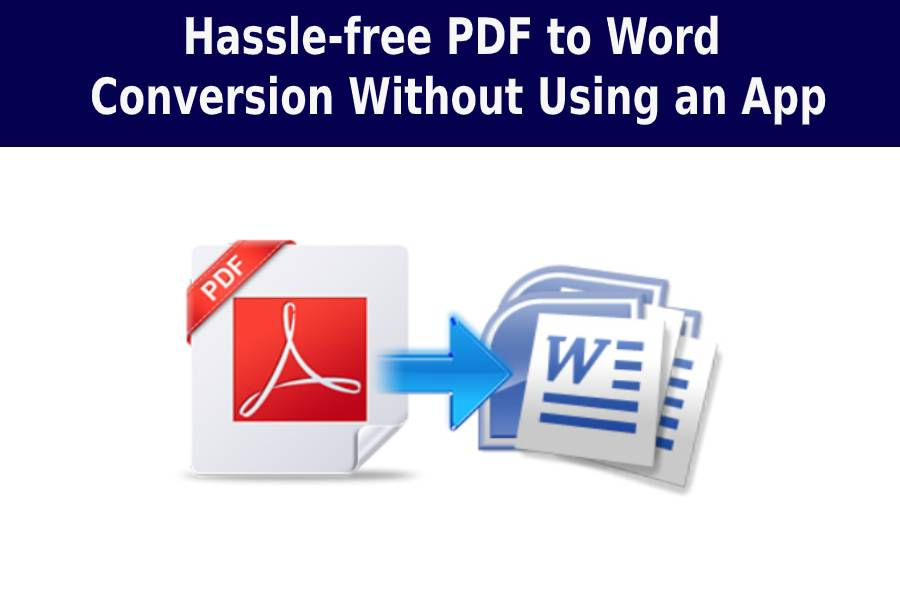 pdf convert without app